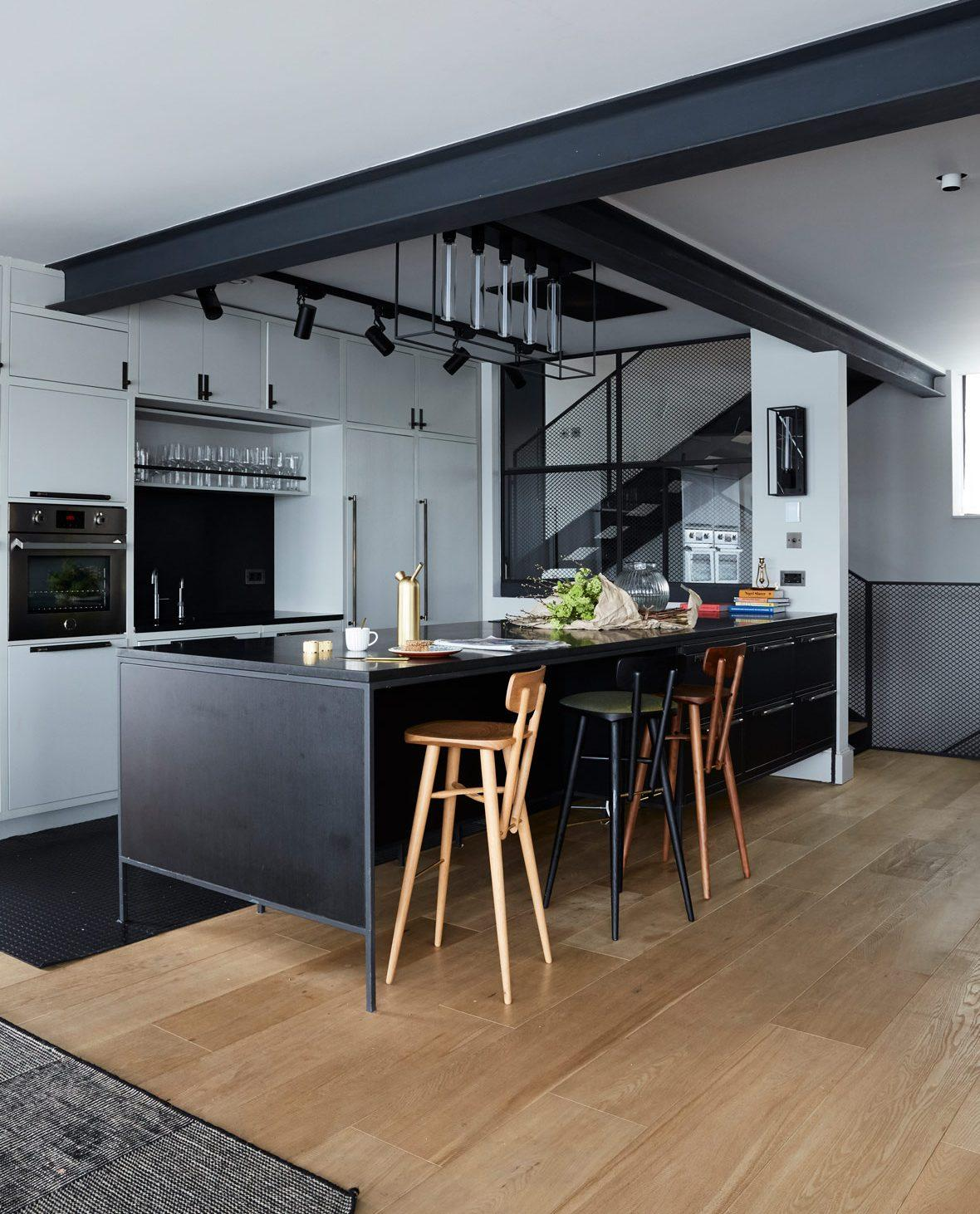 Solid English Oak Flooring in Stockholm, image via Living Etc.