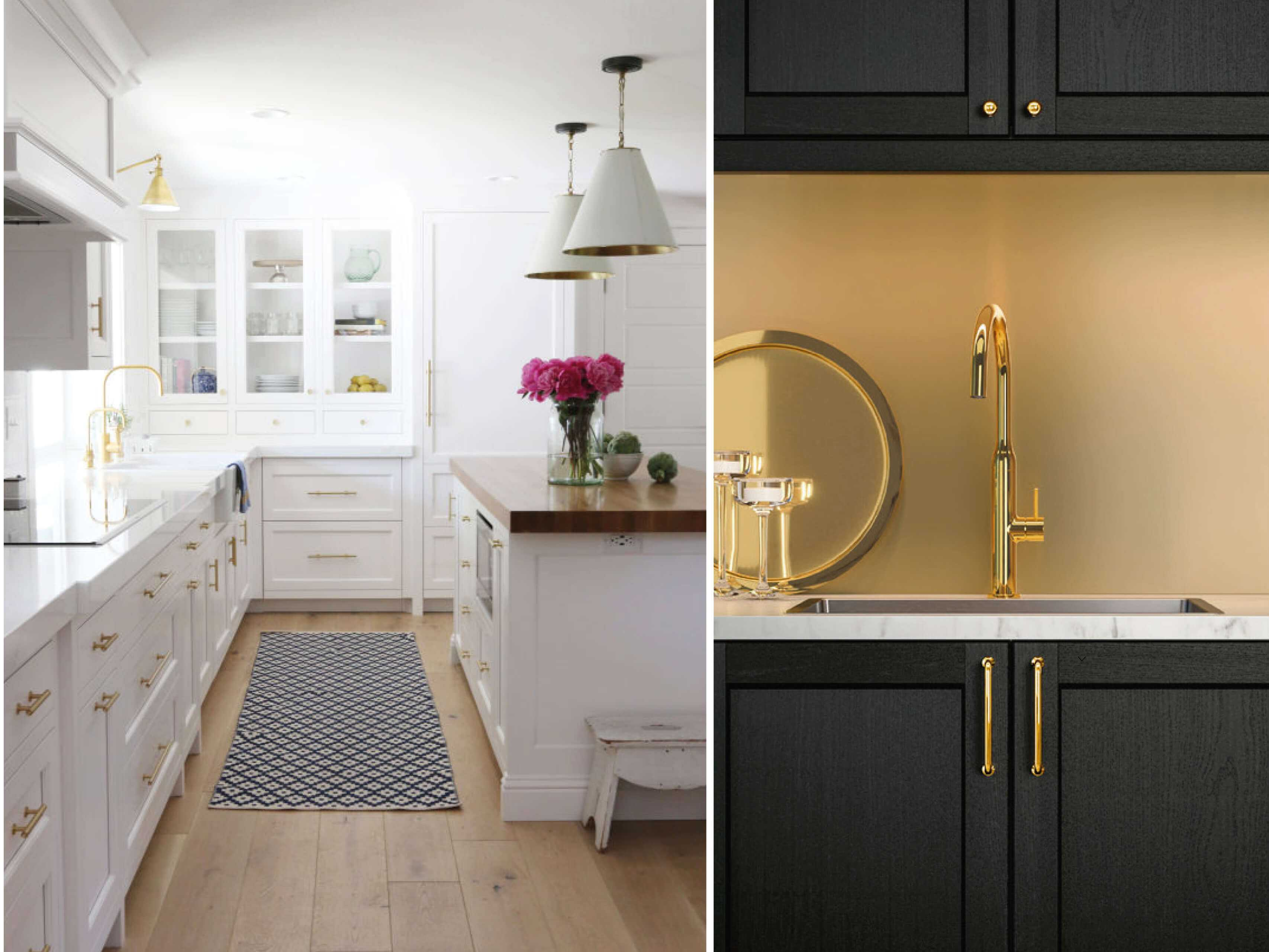 Gold Handles in the Kitchen Images via Pinterest/Ikea