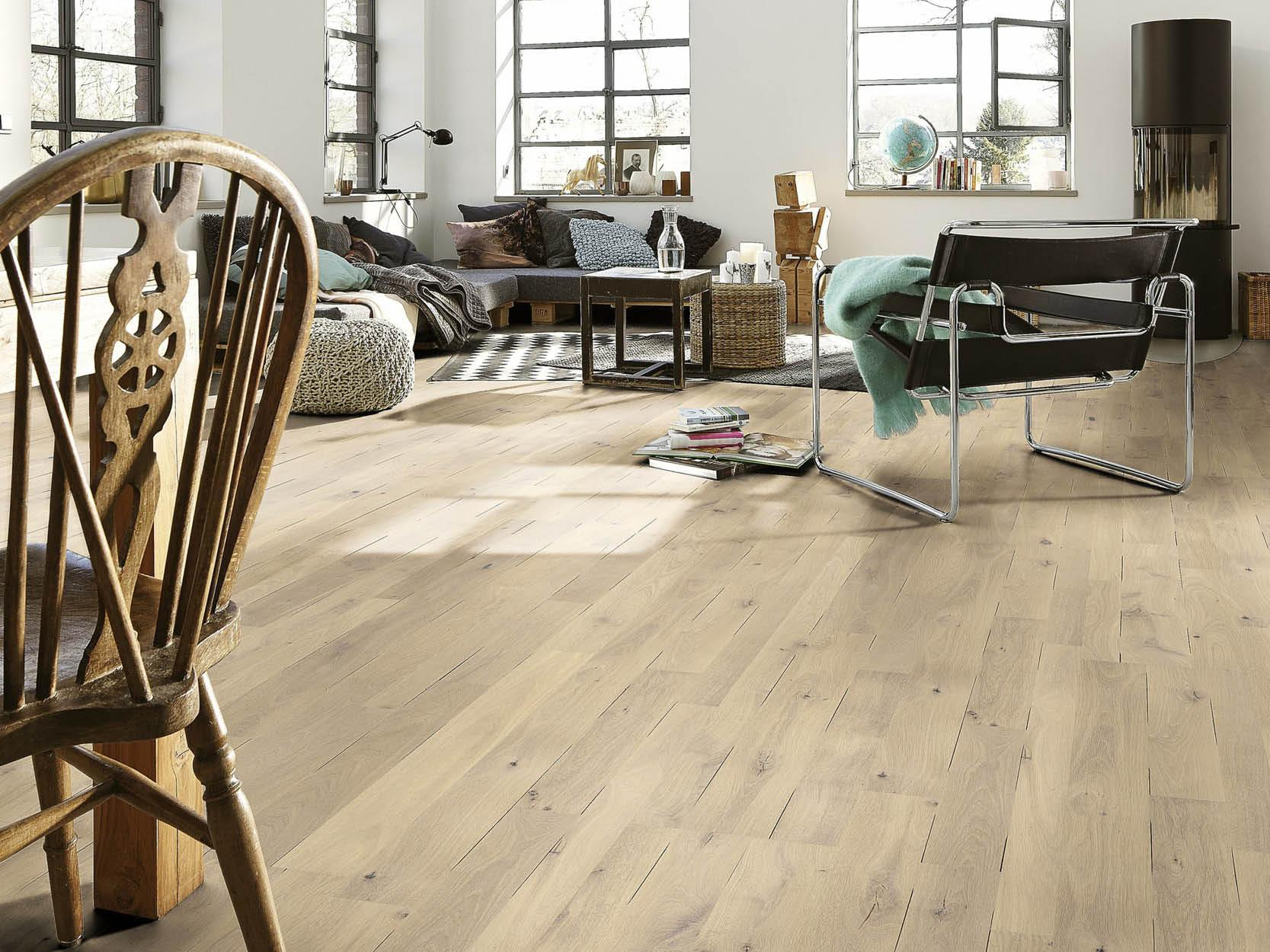 Meister's Engineered Oak Rustic Planked Parquet in Pure Oak Country