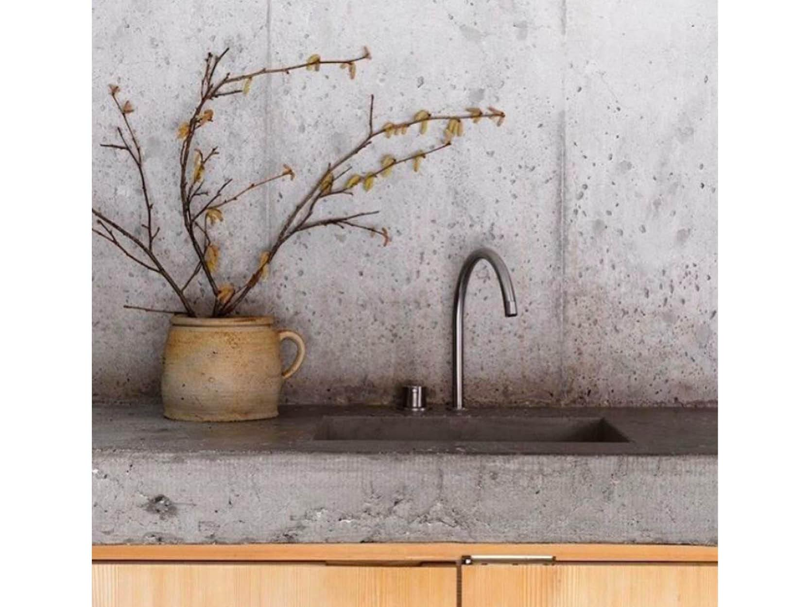 Rustic Concrete Worktops & Splashbacks via Pinterest