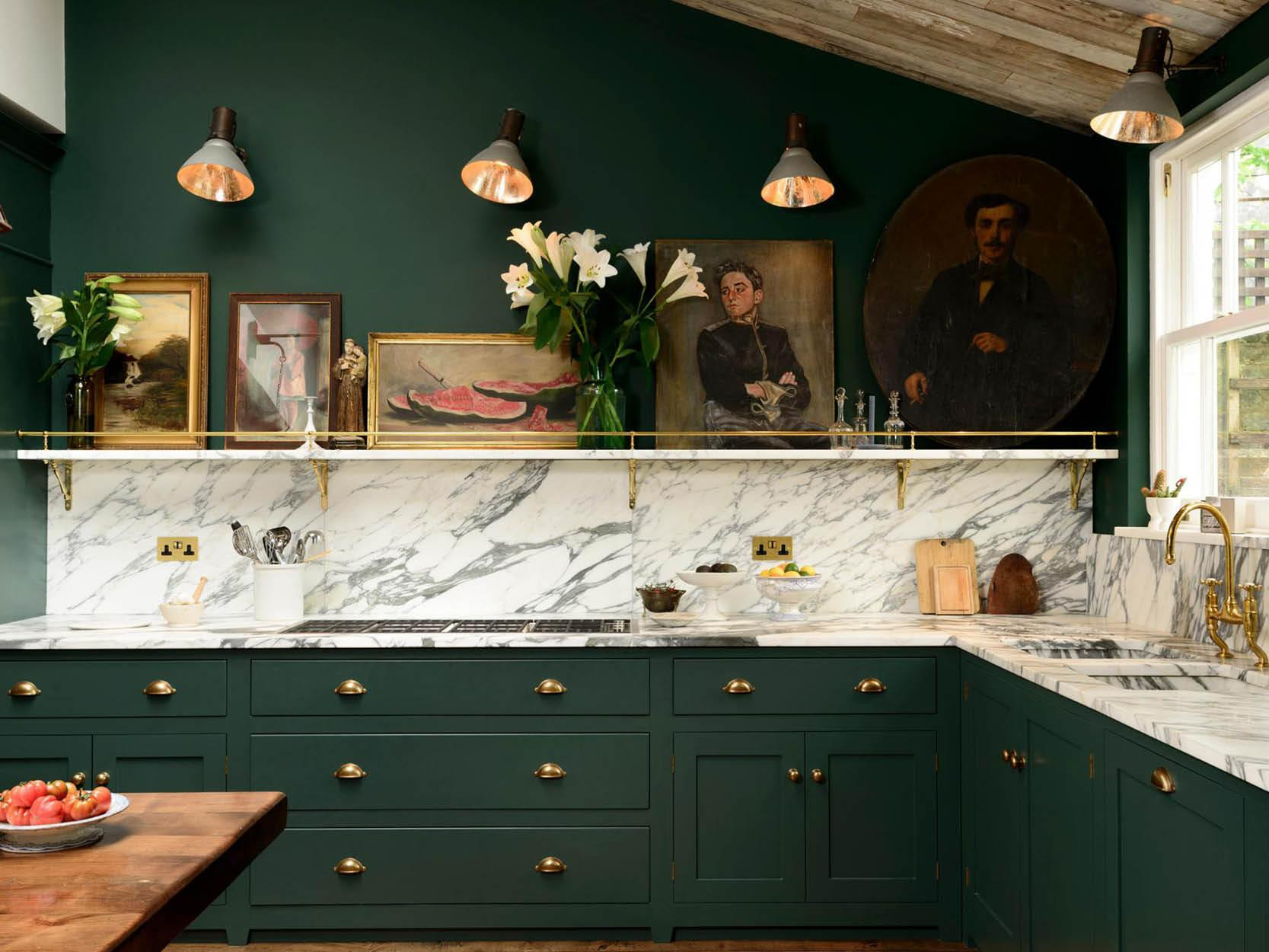Marble Worktops & Splashbacks via Devol Kitchen