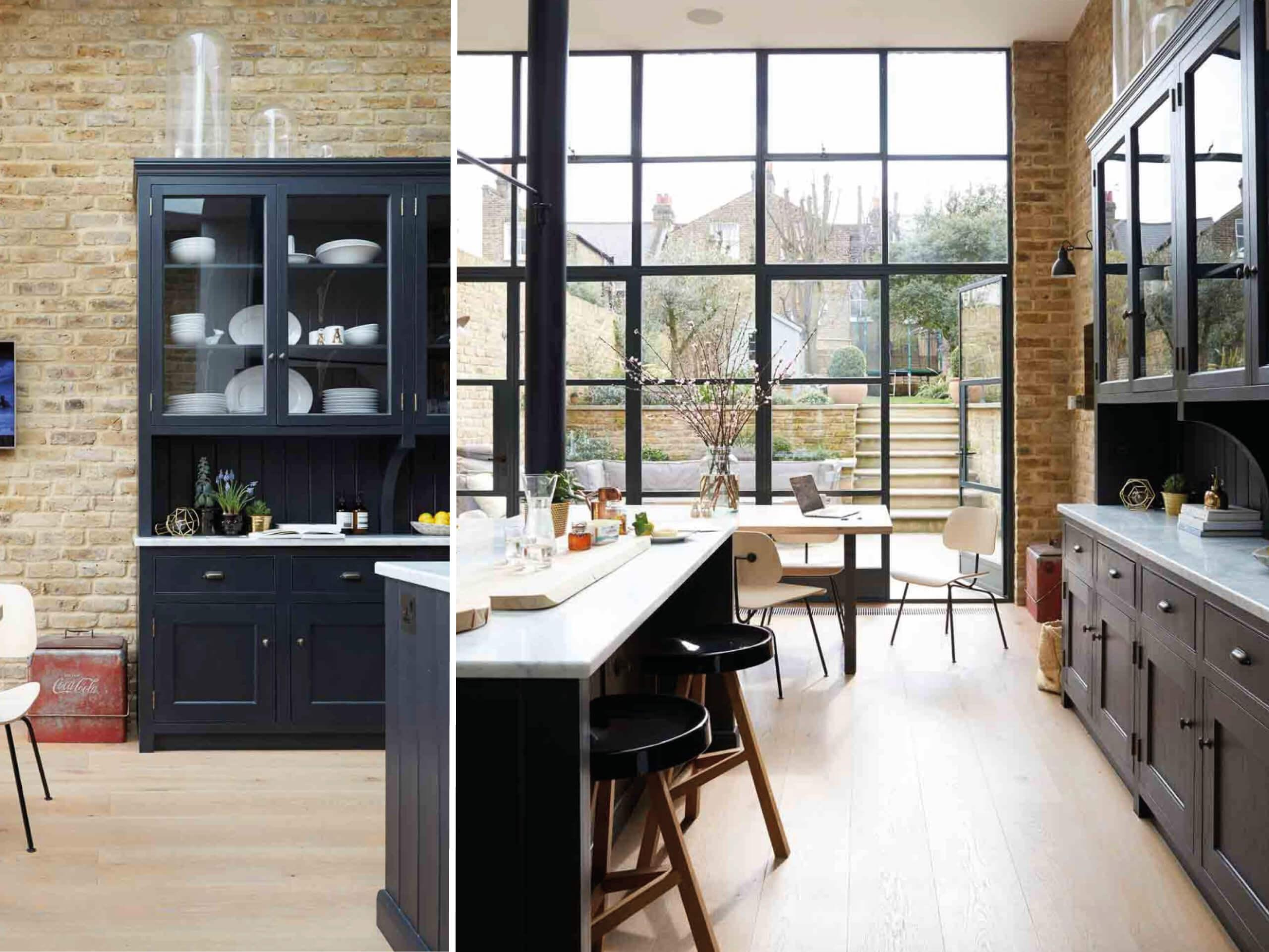 Be Bold and bring luxurious matt black into your kitchen. Images via Living Etc